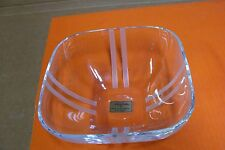 NORITAKE FULL LEAD CRYSTAL SQUARE BOWL MERIDIAN COLLECTION GERMANY