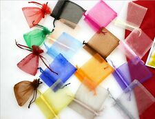 25 PCS 8*10cm Jewelry Gift Pouch Organza Portable Bags Wedding Xmas Favors Red