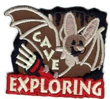 girl cub boy CAVE EXPLORING BAT Caving tour Fun Patches Crests Badge Guide Scout
