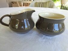Vintage 1961-63 Franciscan Pottery Spice Sugar Bowl & Cream Pitcher Earthenware