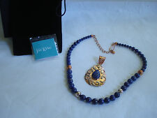 Jay King MINE FINDS Lapis, Copper & Sterling Silver Necklace & Pendant