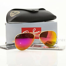 NEW AUTHENTIC RAY BAN AVIATOR RB3025 112/4T 58MM CYCLAMEN PINK MIRROR GOLD FRAME