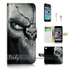 iPhone 6 / 6S (4.7') Flip Wallet Case Cover! P0444 Org Horror Face