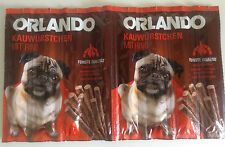 Dog Treats Salami Meat Sticks Chews 8 pieces BEEF like Vitakraft FREE POST, Pug!