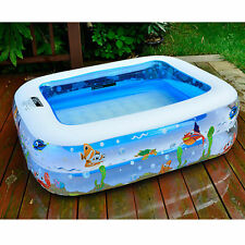 141 X 99 X 46CM Swimming Pool Inflatable Kid Summer Bathing Outdoor Above Ground