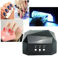 36W LED Nail Cosmetic Art Dryer Diamond LED Curing Light Lamp Machine Gel Polish