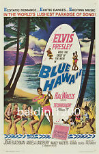 ELVIS PRESLEY - BLUE HAWAII HIGH QUALITY VINTAGE MOVIE POSTER