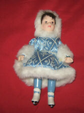 Bambola Di Porcellana Biscuit Interamente Fatta A Mano (cm.15)