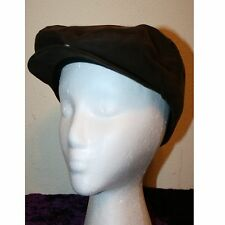 Men's, Brown, 100% Polyester, Newsboy or Cabbie Hat, One Size, Button Down Bill