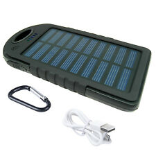 Portable Waterproof Solar Charger USB External Battery PowerBank 4000mAh Black