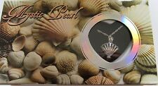 Mystic Pearl- Clam Shell Necklace & Pendant- genuine pearl in oyster- pretty box