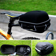 Excellent Cycling Bike Bicycle Frame Pack Bag Gift Rain Cover + Rack Black XS