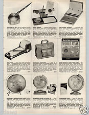 1957 PAPER AD Globe Hammond Commander Illuminated Atlas World McNally Rand