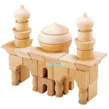 Wooden Arabian Architectural Building Blocks 42pcs Kids Multicultural Learning