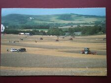 POSTCARD SUSSEX THE ANNUAL PLOUGHING MATCH AT MOUNT CABURN