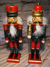 WOODEN SOLDIERS TABLE DECORATION GERMAN MARKET BAVARIAN NUT CRAKERS ORNAMENT