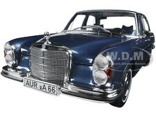 1968 MERCEDES 280 SE DARK BLUE METALLIC 1/18 DIECAST CAR MODEL BY NOREV 183534
