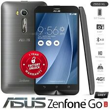 """New Unlocked ASUS Zenfone Go ZB551KL Grey 5.5"""" 8MP Android 4G LTE Mobile Phone"""