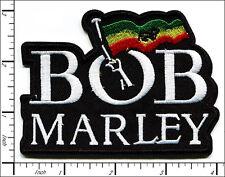 20 Pcs Embroidered Iron on patch BOB MARLEY Reggae 9.8x7.3cm AP025bB