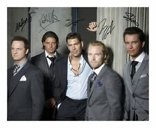 BOYZONE SIGNED AUTOGRAPHED A4 PP PHOTO POSTER