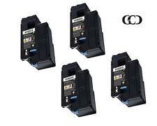 4 Pack BLACK Toners for DELL 332-0399, 4G9HP, 7C6F7, Color Laser C1660, C1660W