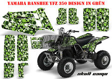 Amr racing decoración Graphic kit ATV Yamaha Banshee yfz 350 Skull camo B
