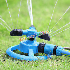 360° Fully Circle Rotating Water Sprinkler 3 Nozzles Garden Pipe Hose Irrigation