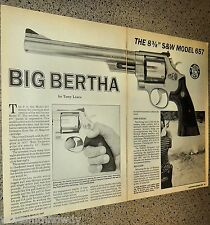 1987 SMITH & WESSON S&W Model 657 Revolver Big Bertha Evaluation Article 4 pages