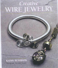 CREATIVE WIRE JEWELRY By KATHY PETERSON Jewellery Silver Making Ring Necklace VG