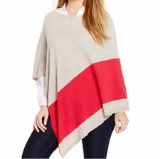 INC International Concepts Poncho Sz 2X / 3X Truffle Red Modern Chic Casual