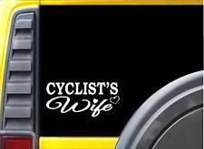 Cyclist's Wife K404 8 inch Sticker biking decal