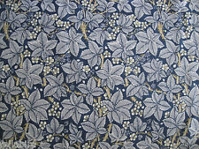 "WILLIAM MORRIS CURTAIN FABRIC DESIGN ""Bramble"" 3.7 METRES INDIGO & MINERAL (370"