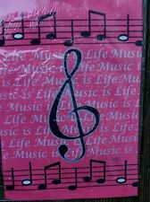 """Music is Life"" Treble clef & musical notes HOUSE Flag"