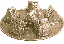 Nordic Ware Bake Village Cup cake Cast Aluminum houses cabin Baking Pan Cabin