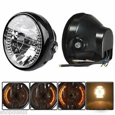 PHARE AVANT LED H4 35 WATT AVEC CLIGNO TRACKER SCRAMBLER BOBBER CHOPPER CUSTOM