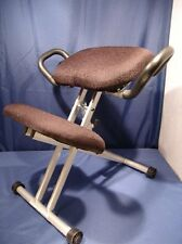 ERGONOMIC ADJUSTABLE BLACK  KNEELING KNEE CHAIR WITH HANDLES EXCELLENT CONDITION
