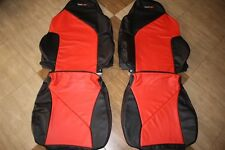 1994-1996 C4 Corvette Genuine Leather Black/Red Sport Seat Covers