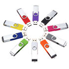 Swivel USB 2.0 Metal Flash Memory Stick Pen Drive Storage Thumb U Disk Lot