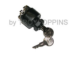 CUSHMAN PART-6-SCREW TERM.-3-POSITION-IGNITION SWITCH-393301 GOLF CART PLASTIC