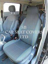 TO FIT A PEUGEOT iOn, CAR SEAT COVERS, YARO BLUE FLECK - 2 FRONTS