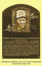 Postcard Rickey Henderson Oakland A's Baseball Hall of Fame Cooperstown MINT