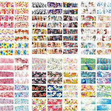 100 Sheets/Lot Value Package Mixed Styles Water Nail Art Sticker Decals Manicure