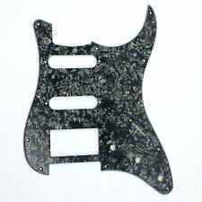 4 Ply Guitar Pickguard Stratocaster Strat Style HSS Style,Black Pearl