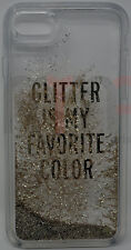 Kate Spade Liquid Clear Glitter Case iPhone 7 Glitter is My Favorite Color Gold