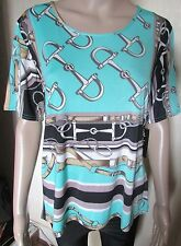 NWT BEAUTIFUL HIGH END PRINTED TOP SIZE M/L 40'' CHEST