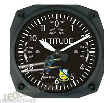 "New TRINTEC Blue Angels Altimeter Wall Clock 6.5"" Aviation Airplane LOGO Time"