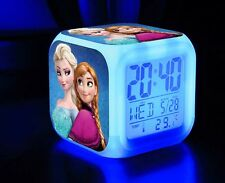 NEW Frozen 7 Color Changing LED Digital Alarm Clocks For Kids & Christmas Gift