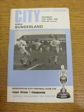 12/04/1969 Manchester City v Sunderland  . Condition: We aspire to inspect all o