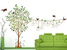 Wall Stickers Family Tree Living Room Decal Blank Photo Frames Hanging on String