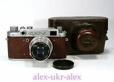 Rare FED-2 brown with Industar-26m lens film camera M39.Exc.CLA.№377334